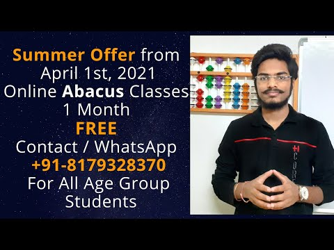 1 Month Free   Summer Offer   Online Abacus Classes