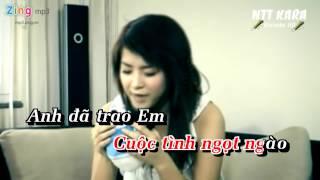 [Karaoke] Đêm Trăng Tình Yêu - Hải Băng (full beat)