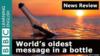 World's oldest message in a bottle: BBC News Review