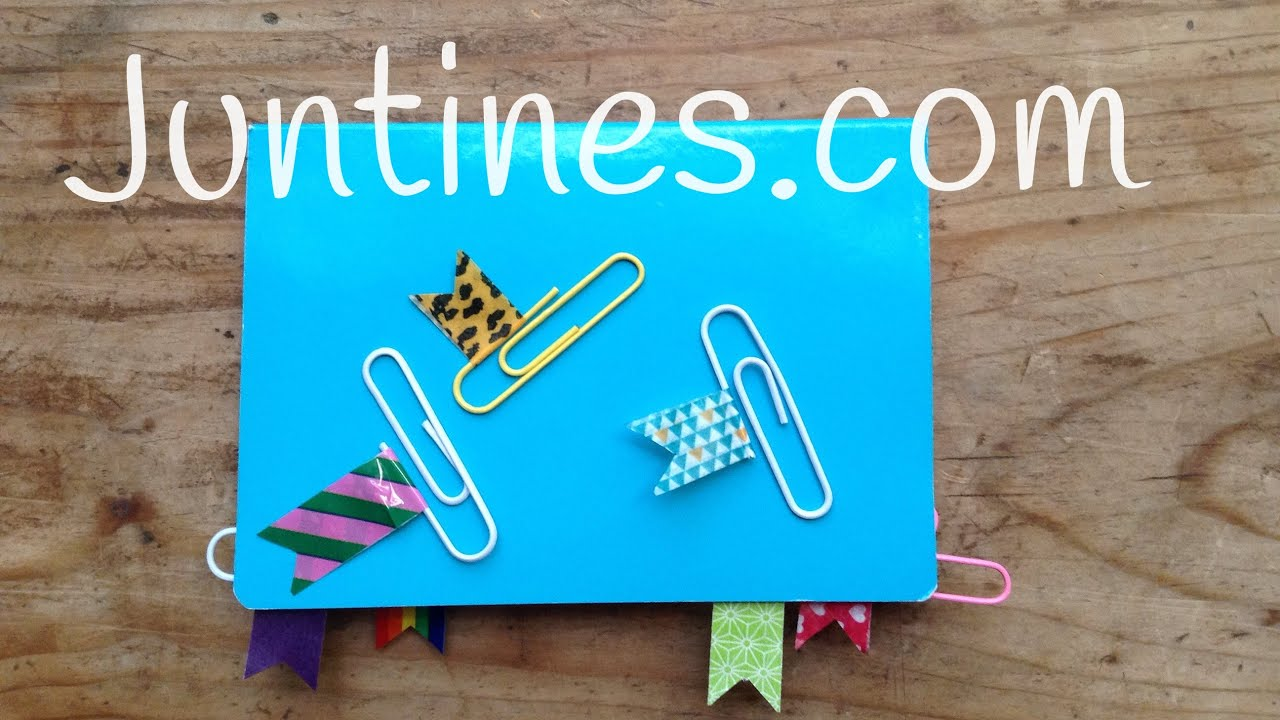 Ideas con WASHI TAPE | Cómo DECORAR tus clips