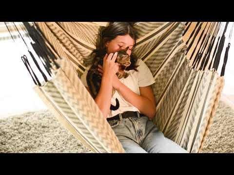 Vorschau: Hängestuhl Comfort Bio 180 x 115 cm Habana Azure