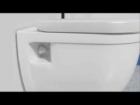 Linie Cirillo toilette suspendue blanc