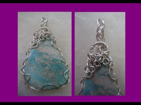 Easy Wire Wrap Pendant - 2 Wire Braid