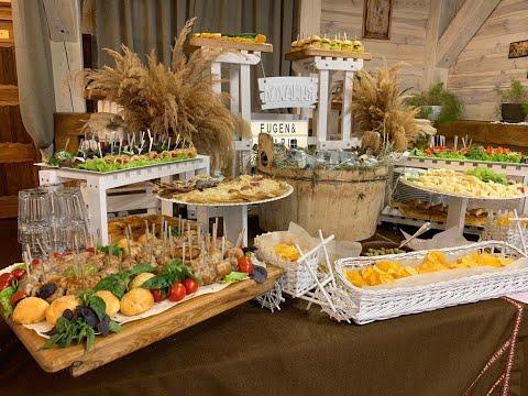 Козацький стіл, м'ясний стіл на весілля, відео 1