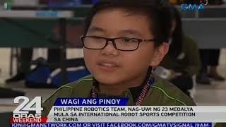 Phl Robotics Team, nag-uwi ng 23 medalya mula sa International Robot Sports Competition sa China