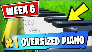 VISIT AN OVERSIZED PIANO (LOCATION) & PLAY THE SHEET MUSIC, TRAVEL 100M WHILE DANCING (Fortnite)