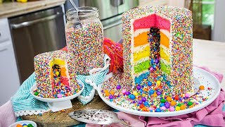 Amirah Kassems Rainbow Explosion Cake - Home & Family
