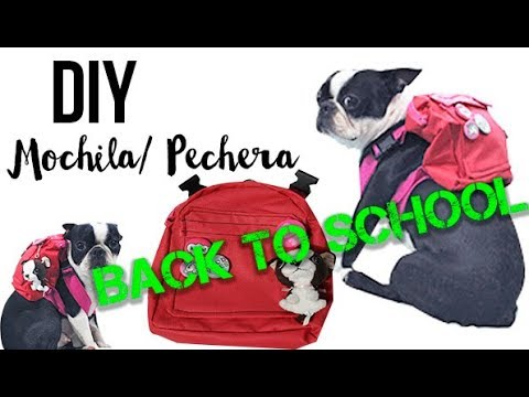 DIY | Mochila pechera | MASCOTAS | BACK TO SCHOOL