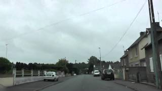 preview picture of video 'Driving Along Rue Ruello, Rue Rustang & Route de Bourbriac, Guingamp, Brittany, France'