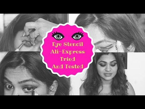 Eyeliner Stencil India - Perfect Cat Eyes ? |Aliexpress Tried And Tested