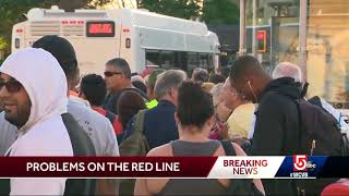 Red Line service restored after vehicle derails