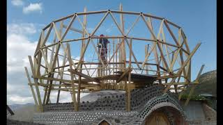 DIY House - This Is How We Did It! Geodesic Dome - Framework Process - Off Grid Living - Video #3