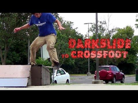 Darkslide to Crossfoot - Random Skate Trick - Georgetown KY Skatepark