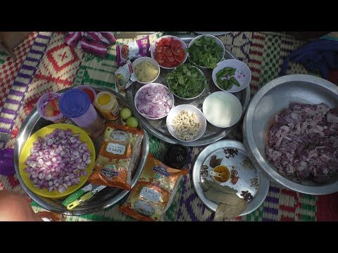 Hyderabad Goat Biryani cooking / Traditional Mutton Biryani Recipe / mutton biryani By Amma Samayal