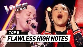 SURPRISING high notes in The Voice Kids