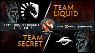 Team Liquid vs Team Secret Game 1 (BO3) l The Chongqing Major Playoffs