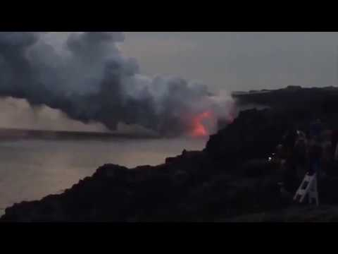 "Video Hawaii Island's Kamokuna Lava Delta Collapses into the Ocean ""December 31, 2016"""