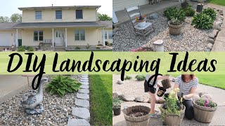 DIY LANDSCAPING IDEAS | MINIMALIST LANDSCAPING | LANDSCAPING ON A BUDGET | MONEY SAVING TIPS