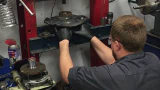 Pressing In A Wheel bearing Into a Knuckle