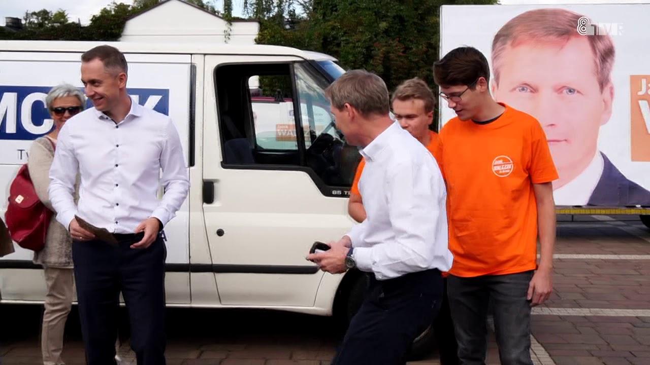 Mobilna kampania kandydatów Koalicji Obywatelskiej