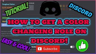 *EASY* HOW TO GET COLOR CHANGING ROLE ON DISCORD! (updated links)