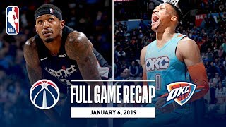 Full Game Recap: Wizards vs Thunder | Russell Westbrook Records His 12th Triple-Double Of The Season