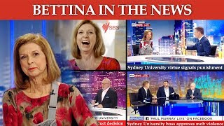 Highlights from Bettina Arndt's recent television interviews about campus deplatforming