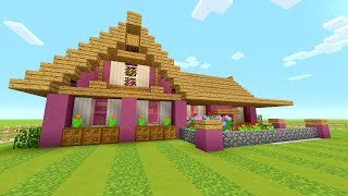 I Built A Pink House Minecraft All The Mods 3 4 Minecraftvideos Tv
