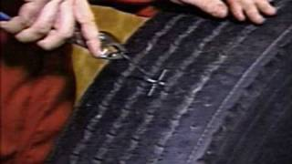 Ремонт грузовых бескамерных шин жгутами Permacure