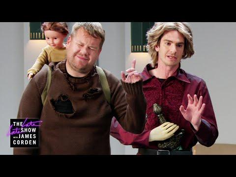 """بالفيديو- أندرو جارفيلد يجسد """"جون سنو"""" وجيمس كوردون يقلد """"دينيريس تارجاريان"""""""