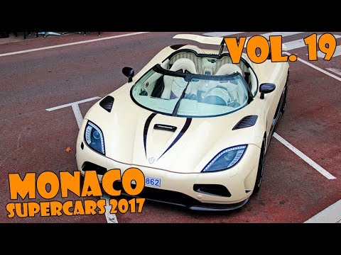 SUPERCARS IN MONACO 2017 - VOL. 19 (Agera R, Frangivento, 2x 918, F40, etc ... ) HQ