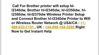 Steps to fix  Brother hl-l2360dw wifi setup