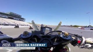 KTM RC390 Racebike Sets Lightweight Twin Lap Record At Sonoma Raceway | ONBOARD GOPRO VIDEO