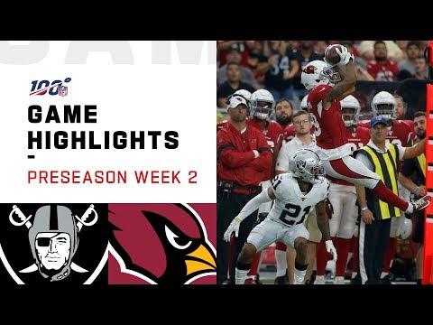 Raiders vs. Cardinals Preseason Week 2 Highlights | NFL 2019