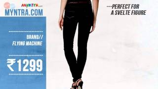 """Best Womens' Black Jeggings under Rs. 1300"" Feat. Jabong & Myntra"