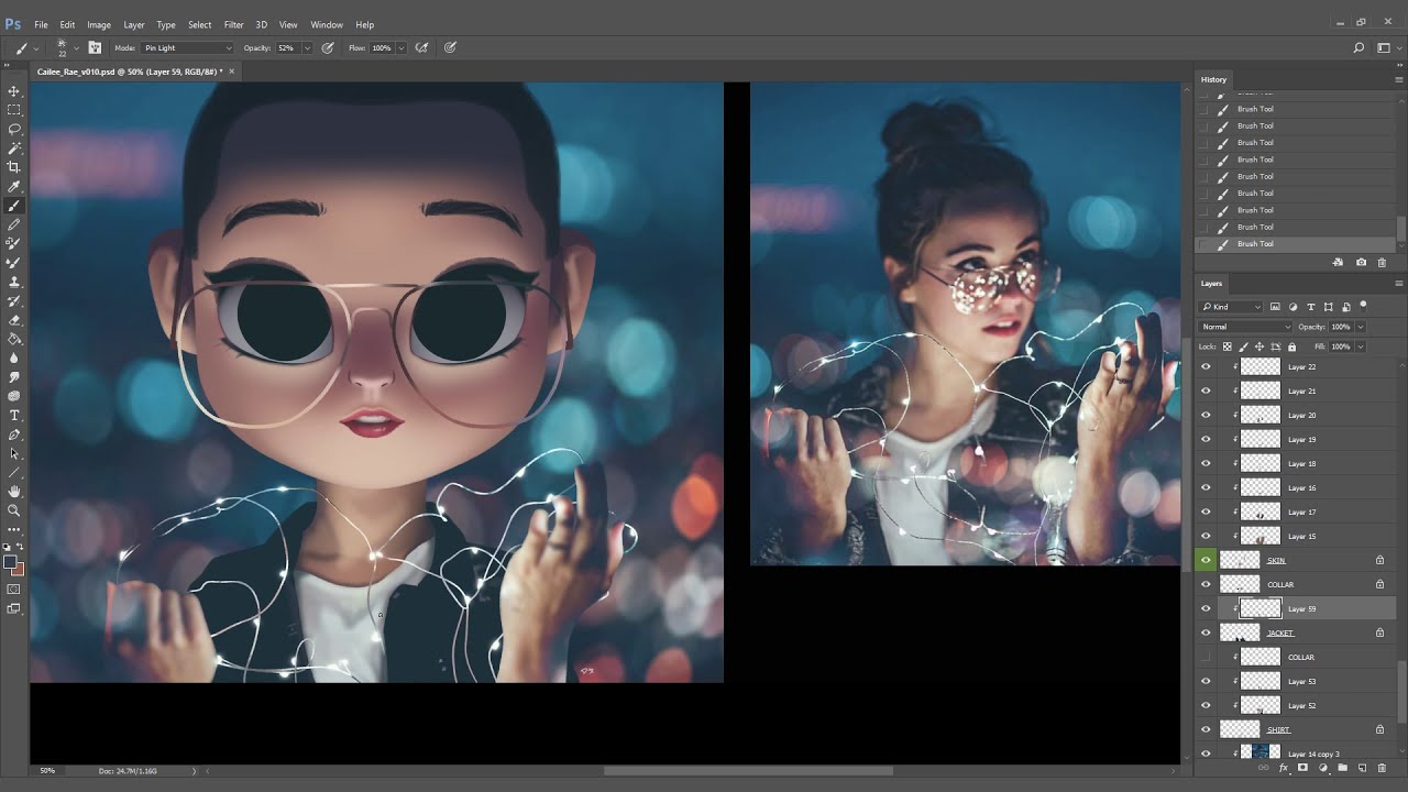 digital art speed painting by brandon woelfel