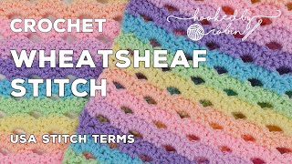 Crochet Wheatsheaf Stitch (Great For Scarves Or Blankets!) Mini Arcade Stitch