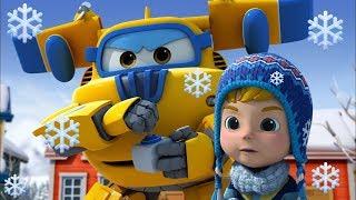 Мультики - Супер Крылья - Зимний сборник! Мультфильмы про самолетики и машинки для детей