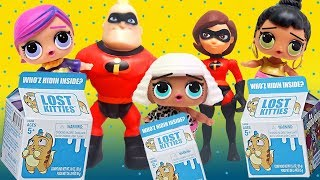 LOL Surprise Dolls and Incredibles Search for Lost Kitties! Featuring Mr Incredible and Super BB!