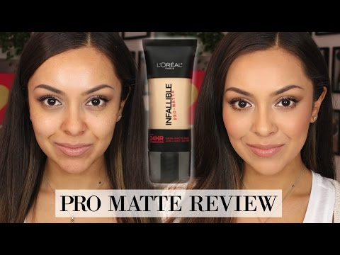 L'oreal Infallible Pro Matte Foundation Review + Demo - TrinaDuhra