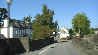 preview picture of video 'Driving Over The River L'Aulne D887 Châteaulin, Finistere, Brittany, France 14th October 2009'