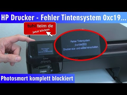 HP Drucker Fehler Tintensystem - 0xc19a - aus und wieder einschalten   Photosmart - [4K]