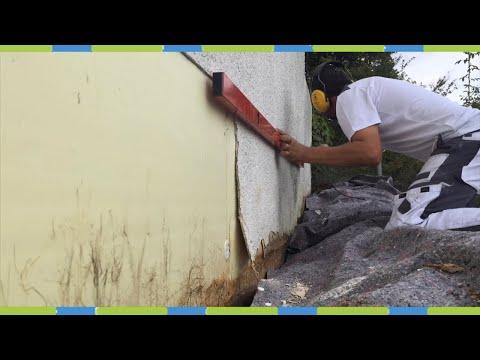 Sockel am haus erneuern fassadenarmierung Wasserschaden