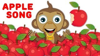 Apple Song - A Crunchy and Juicy Treat | Original Song by HooplaKidz + Many More Nursery Rhymes