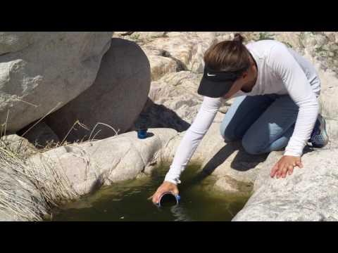 Filtro de agua portatil para campismo y deportes outdoor