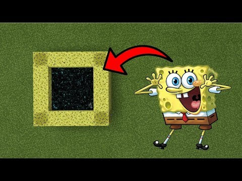 How To Make A Portal To The Spongebob Dimension In Mcpe Minecraft Pe