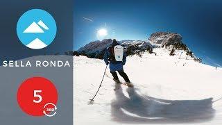 Red 5 - 360 VR | Sella Ronda, Italy | Piste View