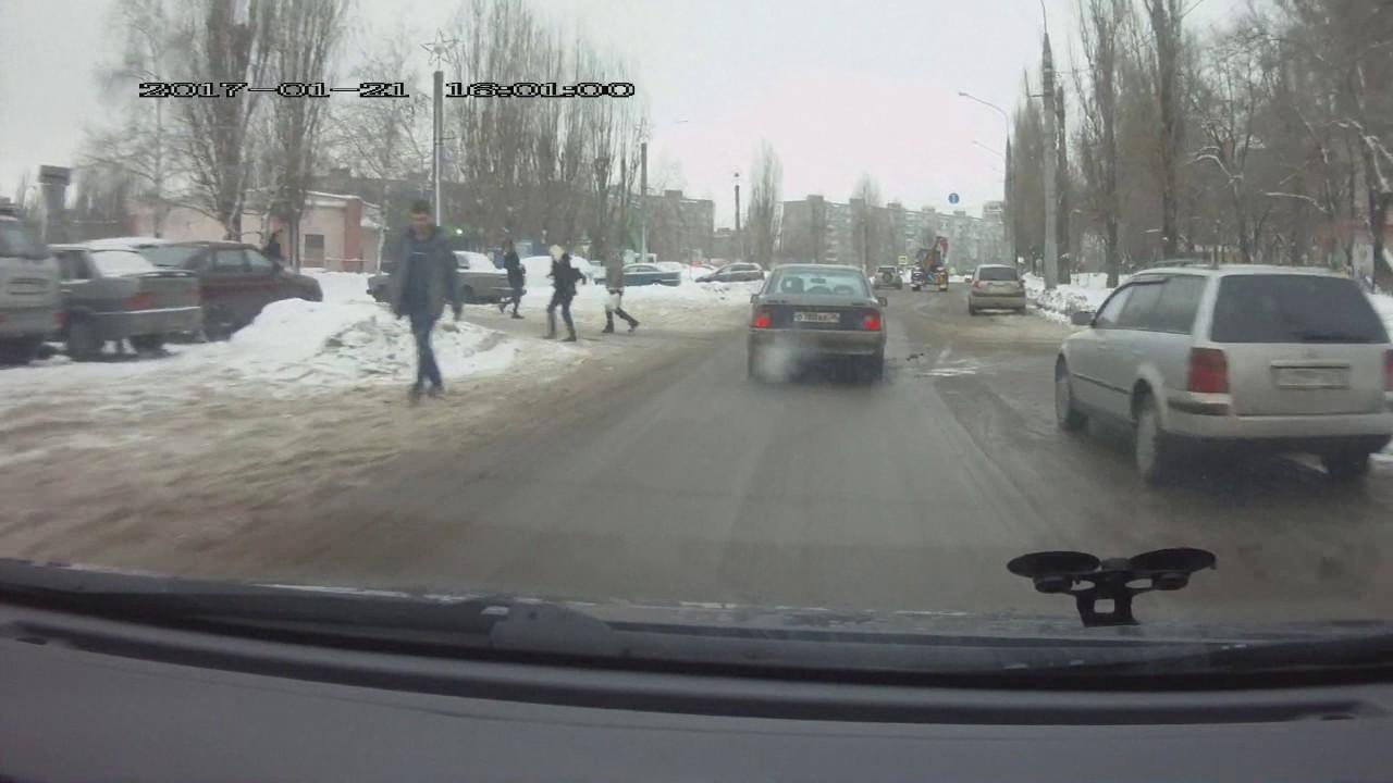 Воронежский пешеход камикадзе