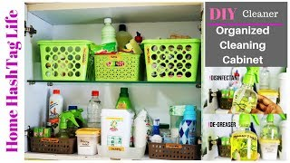 DIY Cleaners & Kitchen Cleaning Cabinet Organisation! Home Hashtag Life