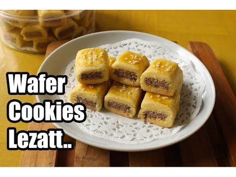 Video Resep kue kering wafer cookies lezat